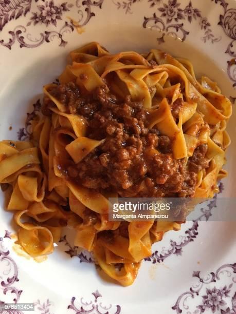 tagliatelle bolognese - emilia romagna stock photos and pictures