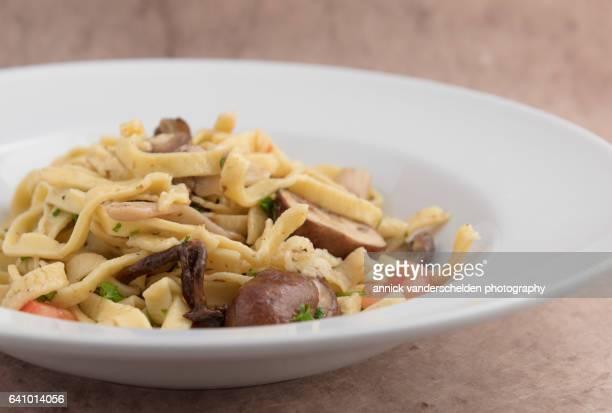 Tagliatelle with mushrooms.