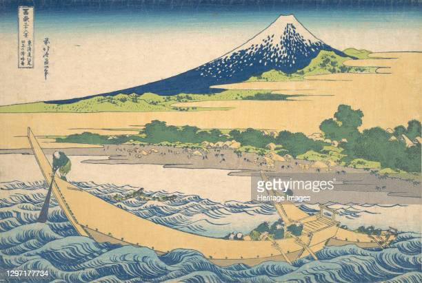 Tago Bay near Ejiri on the Tokaido , from the series Thirty-six Views of Mount Fuji , circa 1830-32. Artist Hokusai.