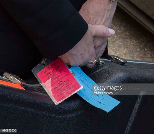 Tags on Malcolm Young's Guitar at the funeral service for AC/DC cofounder Malcolm Young at St Mary's Cathedral on November 28 2017 in Sydney...