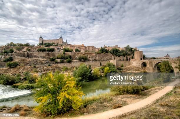 Tagus River (Río Tajo) through Toledo - Castlle-La Mancha, Spain.