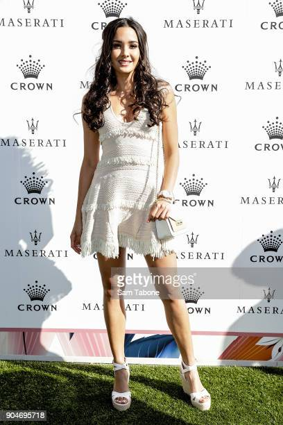 Tahan lew arrives ahead of the 2018 Crown IMG Tennis Player at Crown Palladium on January 14 2018 in Melbourne Australia
