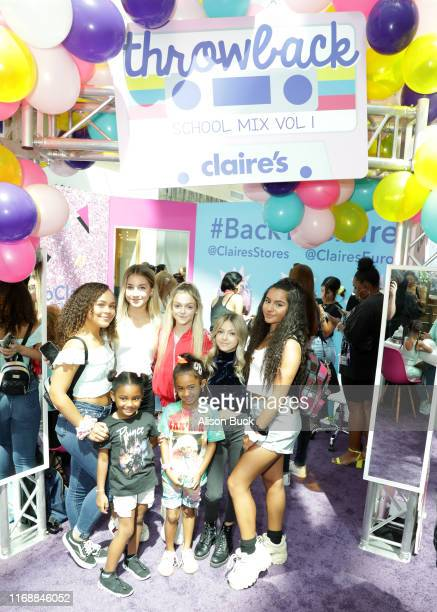 Tahani Anderson, Dayci, Rihanna Quinn, Sarah Little, Royalty Brown, Coco Quinn and Tati McQuay attend the Claire's Back to School Bash at the...