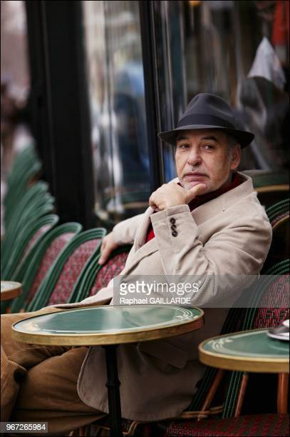 Tahar Ben Jelloun Moroccan author at the Cafe de Flore for text Copyright Le Figaro Magazine approval needed Please contact...