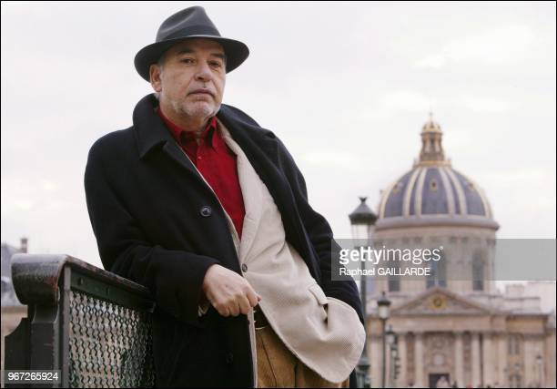 Tahar Ben Jelloun Moroccan author on the Pont des Arts for text Copyright Le Figaro Magazine approval needed Please contact...