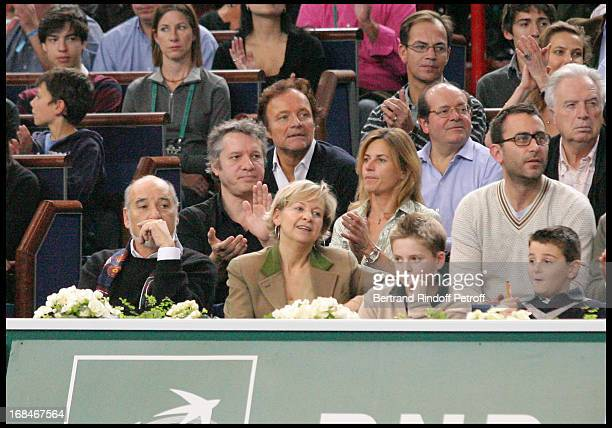 Tahar Ben Jelloun Thierry Rey Guillaume Durand Virginie Clerc at Final Of The BNP Paribas Tennis Masters Won By JoWilfried Tsonga At Palais...