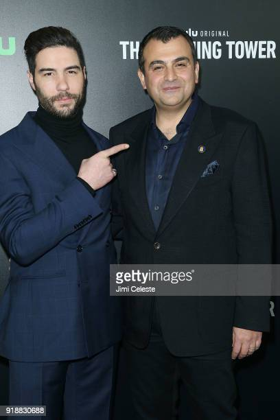 Tahar Rahim and Ali Soufan attends Hulu's The Looming Tower Series Premiere at The Paris Theatre on February 15 2018 in New York City