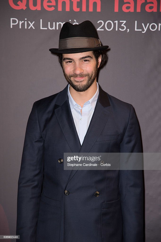 Tahar Rahim attends the Tribute to Quentin Tarantino, during the 5th Lumiere Film Festival, in Lyon.