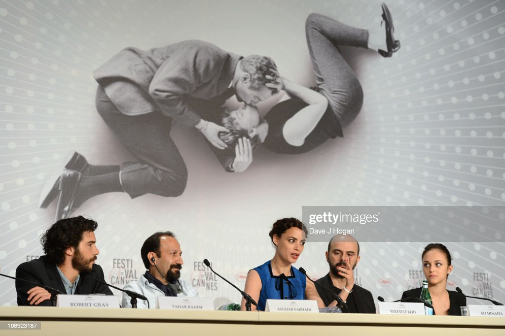 Tahar Rahim, director Asghar Farhadi, actress Berenice Bejo, Ali Mosaffa and Pauline Burlet attend 'Le Passe' Press Conference during the 66th Annual Cannes Film Festival at the Palais des Festivals on May 17, 2013 in Cannes, France.