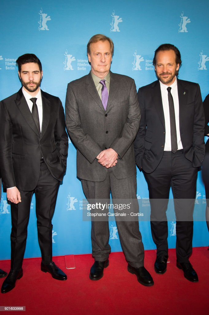 Tahar Rahim, Jeff Daniels and Peter Sarsgaard attend the 'The Looming Tower' premiere during the 68th Berlinale International Film Festival Berlin at Zoo Palast on February 20, 2018 in Berlin, Germany.