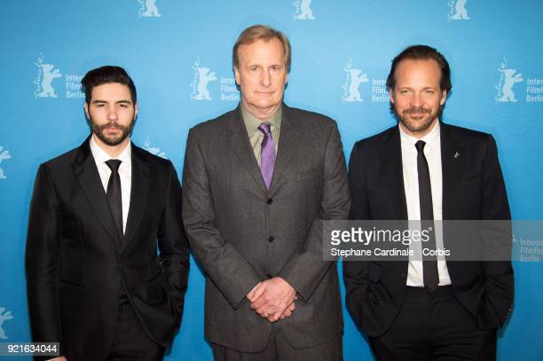 Tahar Rahim Jeff Daniels and Peter Sarsgaard attend the 'The Looming Tower' premiere during the 68th Berlinale International Film Festival Berlin at...