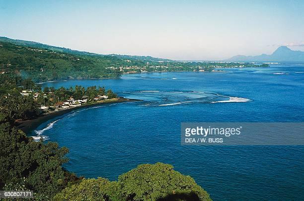 Taharaa point islet, Tahiti, Society islands, French Polynesia.