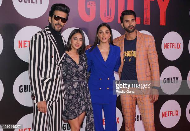 "Taher Shabbir, Akansha Ranjan Kapoor, Kiara Advani and Gurfateh Singh Pirzada attend the special screening of the film ""Guilty"" on March 04, 2020 in..."