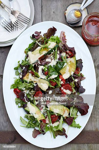 tahini salad - heidi coppock beard stock pictures, royalty-free photos & images
