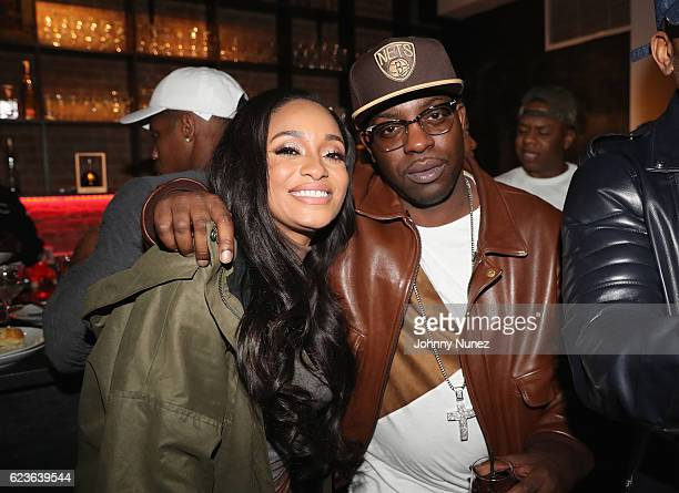 Tahiry and Uncle Murda attend DJ Suss One Birthday Celebration at The Loft on November 15 2016 in New York City