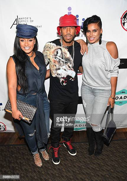 Tahiry Jose Ludacris and Laura Govan attend LudaDay Weekend Celebrity Bowling Tournament at Bowlmor Lanes on September 2 2016 in Atlanta Georgia