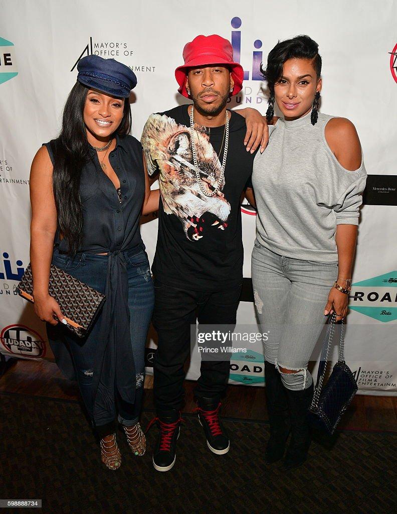 Tahiry Jose, Ludacris and Laura Govan attend LudaDay Weekend: Celebrity Bowling Tournament at Bowlmar Lanes on September 2, 2016 in Atlanta, Georgia.