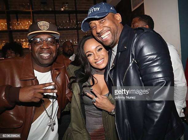 Tahiry Uncle Murda and Maino attend DJ Suss One Birthday Celebration at The Loft on November 15 2016 in New York City