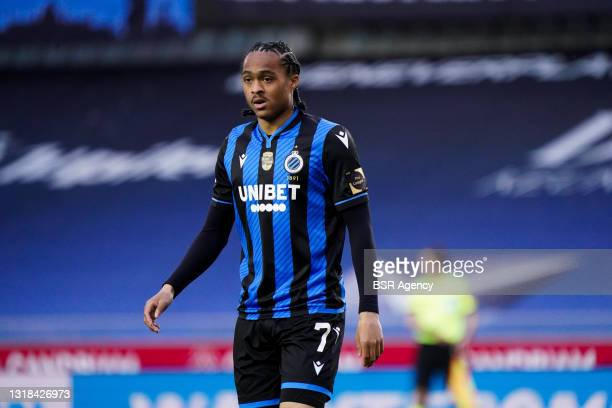Tahith Chong of Club Brugge during the Belgium Pro League match between Club Brugge and Royal Antwerp FC at Jan Breydelstadion on May 16, 2021 in...