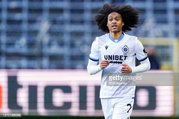 Tahith Chong of Club Brugge during the Jupiler Pro League match between RSC Anderlecht and Club Brugge at Constant Vanden Stockstadion on April 11,...
