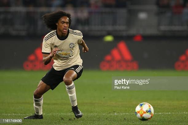 Tahith Chong of Manchester United during the match between the Perth Glory and Manchester United at Optus Stadium on July 13, 2019 in Perth,...