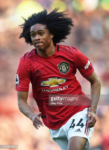 Tahith Chong of Manchester United during the Premier League match between Manchester United and Leicester City at Old Trafford on September 14, 2019...
