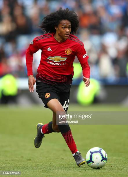 Tahith Chong of Manchester United in action during the Premier League match between Huddersfield Town and Manchester United at John Smith's Stadium...