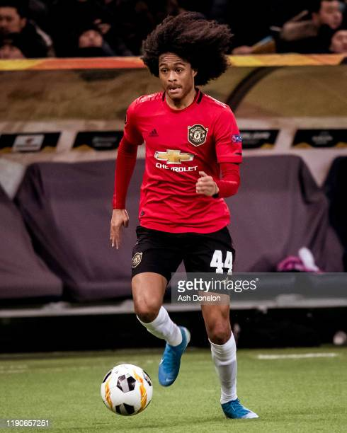 Tahith Chong of Manchester United in action during the UEFA Europa League group L match between FK Astana and Manchester United at Astana Arena on...