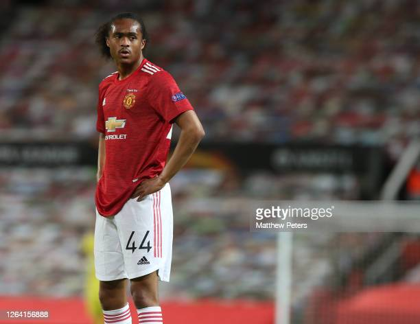 Tahith Chong of Manchester United in action during the UEFA Europa League round of 16 second leg match between Manchester United and LASK at Old...