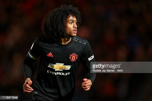 Tahith Chong of Manchester United U21 during the Leasingcom Trophy match fixture between Doncaster Rovers and Manchester United U21's at Keepmoat...