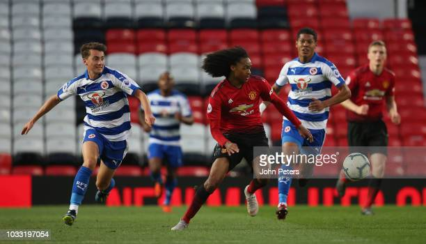 Tahith Chong of Manchester United U23s in action during the Premier League 2 match between Manchester United U23s and Reading U23s at Old Trafford on...
