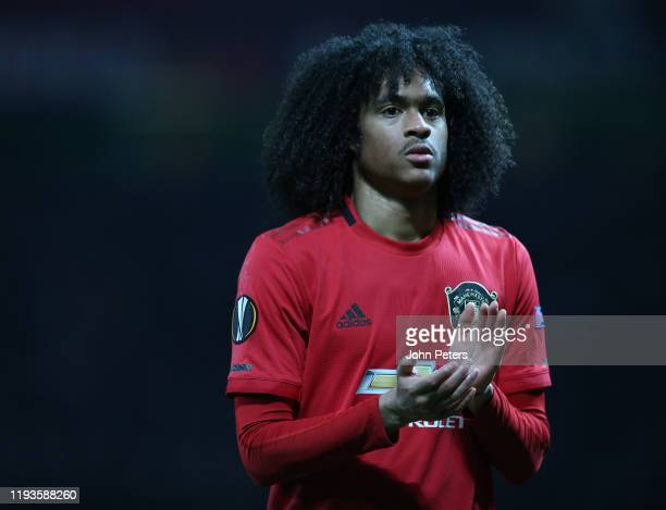 Tahith Chong of Manchester United walks off after the UEFA Europa League group L match between Manchester United and AZ Alkmaar at Old Trafford on...