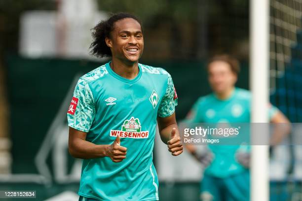Tahith Chong of SV Werder Bremen looks on during the Werder Bremen Training Camp on August 22, 2020 in Zell am Ziller, Austria.