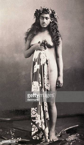 Woman of Papeete Tahiti in the Pacific Islands