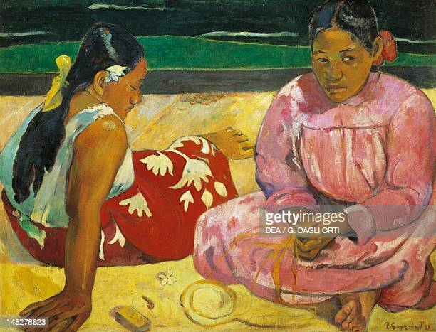 Tahitian women on the beach by Paul Gauguin , oil on canvas, 69x91 cm. ; Paris, Musée D'Orsay .