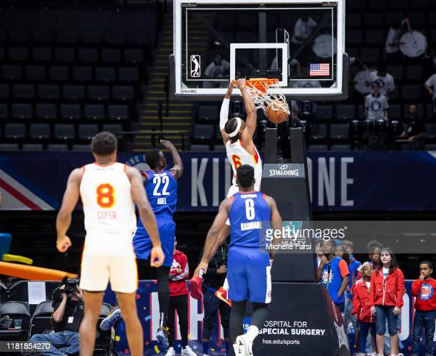 Tahjere McCall of the College Park Skyhawks dunks against the Long Island Nets during an NBA GLeague game on November 11 2019 at NYCB Live Home of...