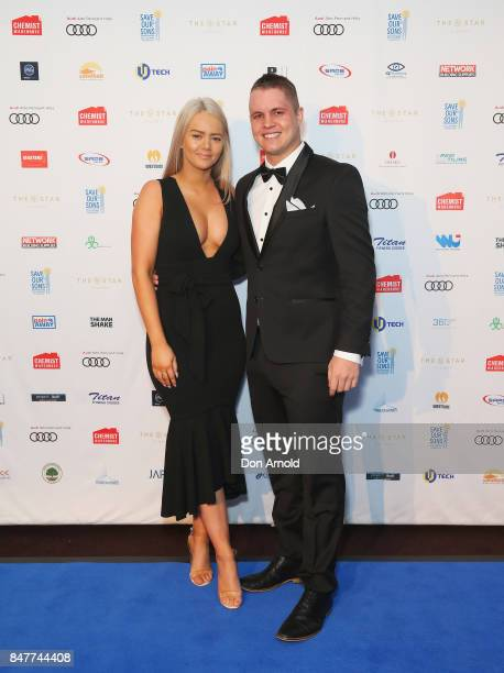 Tahnee Sims and Johnny Ruffo attend the Save Our Sons Gala at The Star on September 16 2017 in Sydney Australia
