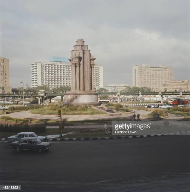 Tahrir Square in Cairo, Egypt, circa 1960.