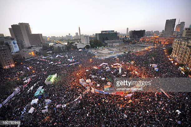 tahrir square  - january 25, 2012 - tahrir square cairo stock pictures, royalty-free photos & images
