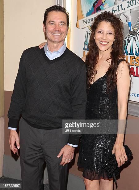 Tai Babilonia and Randy Gardner attend the All Sports Film Festival Closing Ceremony Honoring Bruce Jenner held at El Portal Theatre on November 11...