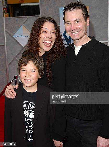 Tai Babilonia Randy Gardner and son during 'Ice Princess' Los Angeles Premiere Arrivals at El Capitan Theater in Hollywood California United States