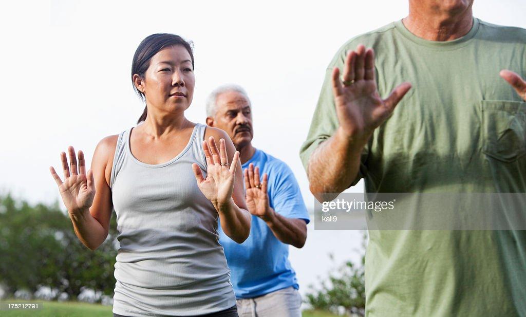 Tai chi class : Stock Photo
