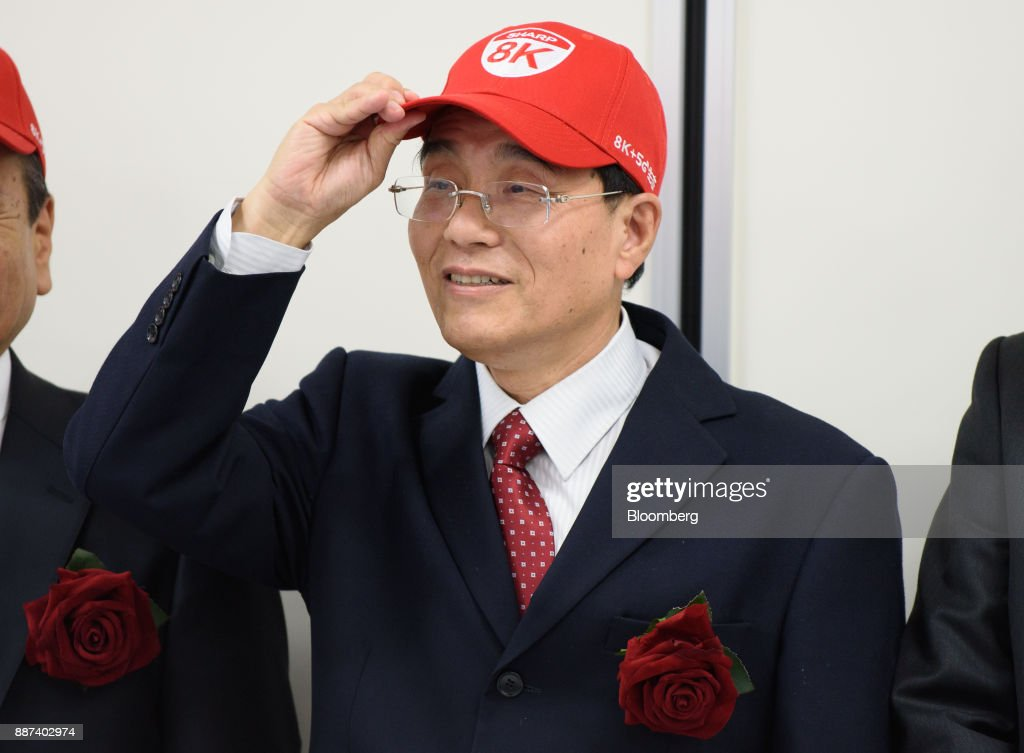 Tai Jeng Wu, president and chief executive officer of Sharp Corp., attends a news conference in Tokyo, Japan, on Thursday, Dec. 7, 2017. Taisaid hell remain in the job while seeking a successor in the future, backing away from a promise to step down after returning the company to the Tokyo Stock Exchanges First Section. Sharp was acquired byFoxconn Technology Groupin August 2016 and Tai was sent by the Taiwanese manufacturer to oversee the Japanese electronics makers turnaround. Photographer: Akio Kon/Bloomberg via Getty Images