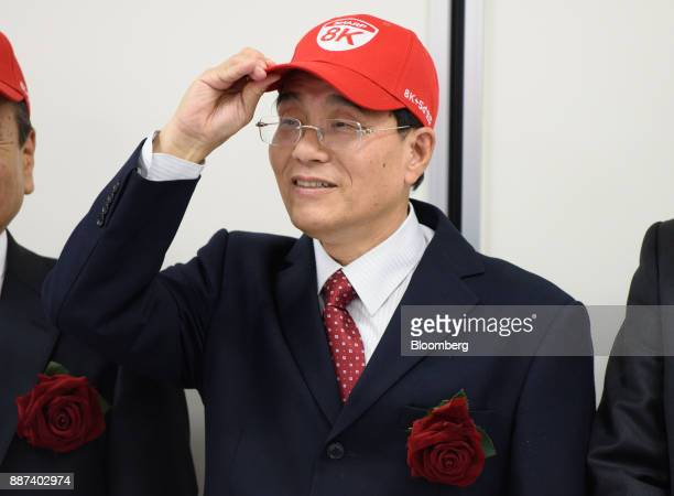 Tai Jeng Wu president and chief executive officer of Sharp Corp attends a news conference in Tokyo Japan on Thursday Dec 7 2017 Taisaid hell remain...