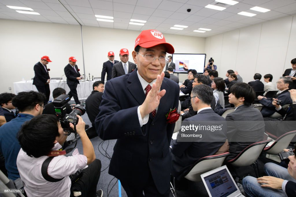 Tai Jeng Wu, president and chief executive officer of Sharp Corp., leaves a news conference in Tokyo, Japan, on Thursday, Dec. 7, 2017. Taisaid hell remain in the job while seeking a successor in the future, backing away from a promise to step down after returning the company to the Tokyo Stock Exchanges First Section. Sharp was acquired byFoxconn Technology Groupin August 2016 and Tai was sent by the Taiwanese manufacturer to oversee the Japanese electronics makers turnaround. Photographer: Akio Kon/Bloomberg via Getty Images
