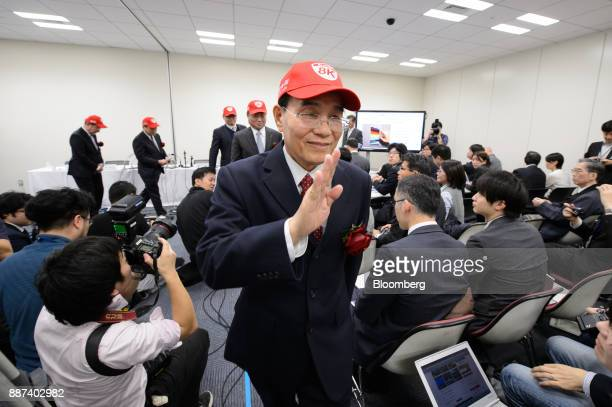 Tai Jeng Wu president and chief executive officer of Sharp Corp leaves a news conference in Tokyo Japan on Thursday Dec 7 2017 Taisaid hell remain...