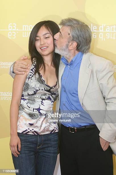 Tai Ling and Gianni Amelio director during The 63rd International Venice Film Festival La Stella Che Non C'e Photocall at Palazzo del Casino in...
