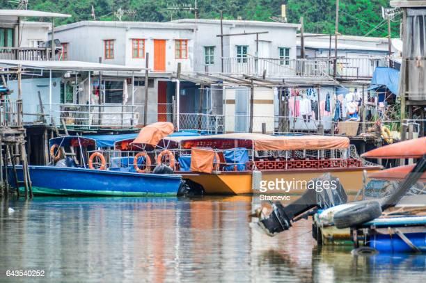 tai o fishing village in hong kong - lantau stock pictures, royalty-free photos & images