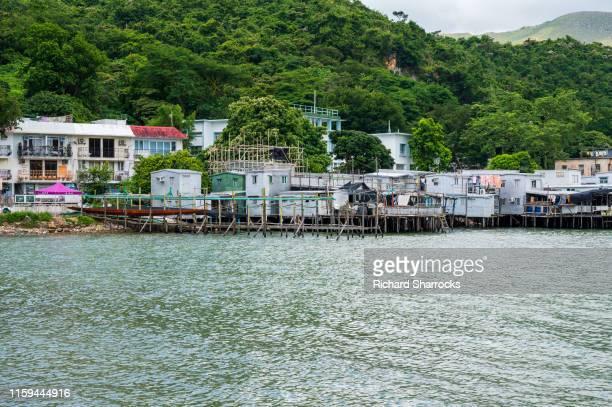 tai o fishing village, lantau, hong kong - lantau stock pictures, royalty-free photos & images