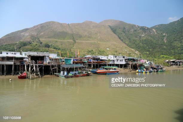 tai o fishing village, lantau island, hong kong, china, asia - fischerdorf stock-fotos und bilder